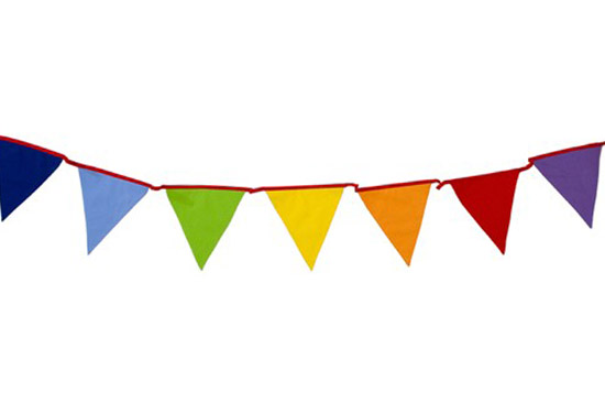 very colourful bunting